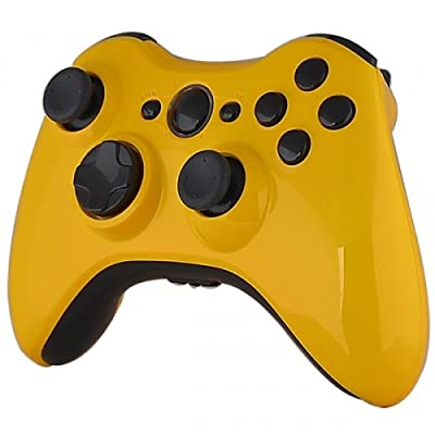 Xbox 360 Wireless Controller - Mustard Yellow with Black Buttons