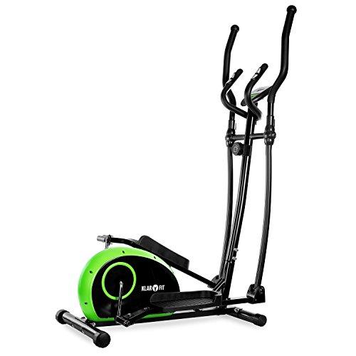 Klarfit Ellifit Basic 10 Crosstrainer Heimtrainer (acht Widerstandsstufen, Trainingscomputer mit Zeitmessung, Geschwindigkeit, Kalorienverbrauch und Distanz)