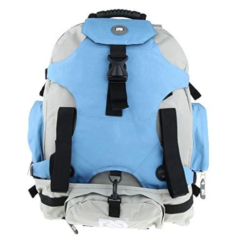MagiDeal Wasserdicht Tragetasche Rollschuhe Tasche Wanderrucksack mit Tragegriff, 53x36x19 cm - Blau