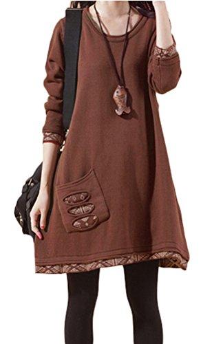 vogstyle-donna-ragazza-maglione-con-tasche-castano