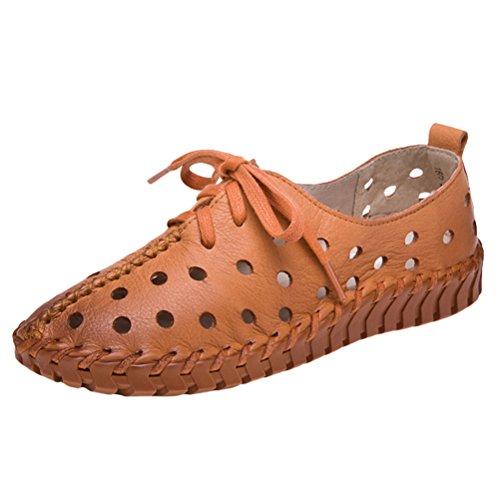 Vogstyle Femmes Monochrome Espadrilles Chaussures Sandales À Talon Bas Simple Casual Chaussures Style 3 Jaune
