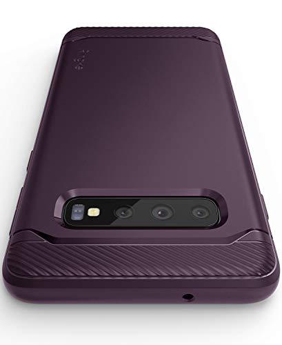 Ringke Onyx Kompatibel mit Galaxy S10 Plus Hülle [Lilac Lila] Exterm Hart Robust Flexibel Schutzhülle Anti-Slip Muster Griff TPU Silikon Stoßfest Bumper Protection Purple Handyhülle für Galaxy S10+