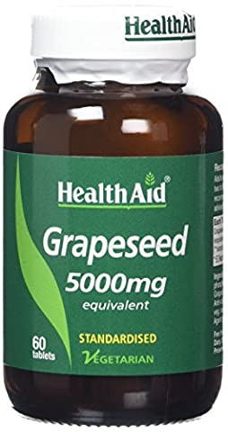 HealthAid Grapeseed Extract 5000mg - 60 Vegetarian Tablets