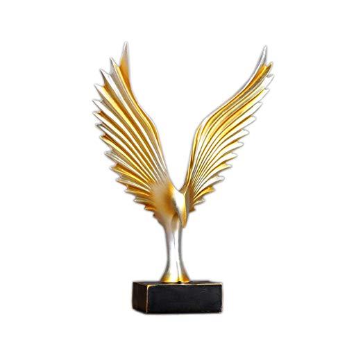 TIDLT Desktop-Dekoration, Gold Angel Wings Kunst Dekoration Ornament (Farbe : Gold, größe : 8 * 33 * 23cm) (Ornament Angel Wing)