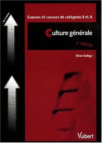 Culture générale : Examens et concours de catégories B et A