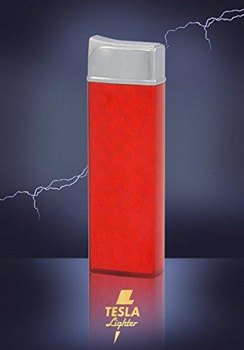 Tesla-Lighter T12 Lichtbogen Feuerzeug USB Feuerzeug wiederaufladbar Classic Rot