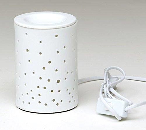 Elektrische Duftkerzen (Porzellan Duftlampe DOTS, elektrisch weiss, 15 cm, in PVC-Box mit Birne)