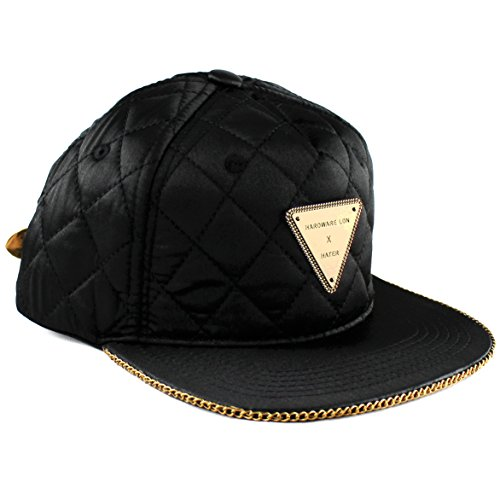 hater-quilted-gold-chain-snapback-casquette