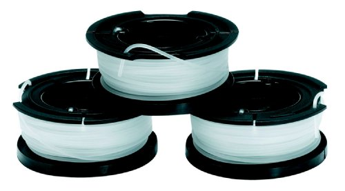 Black + Decker A6485 Lot de 3 Bobines de fil reflex pour coupe-bordure 10 m x 1.5 mm