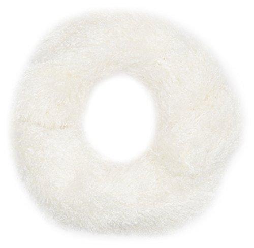 La isla del sol scaldacollo pelliccia sciarpa, bianco, taglia unica donna