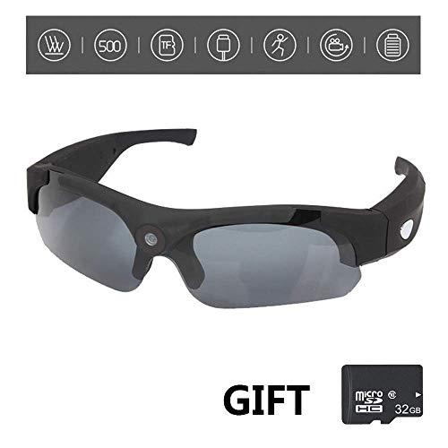 BJYG 2 und 1 Sport Radfahren Sonnenbrille HD 1080P Kamera Mini DV Eyewear Geschenk 32 GB Speicherkarte zum Radfahren, Wandern -