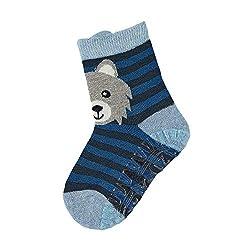 Sterntaler Jungen Socken Fli Fli Air Wolf, Blau (Hellblau), 23/24 EU