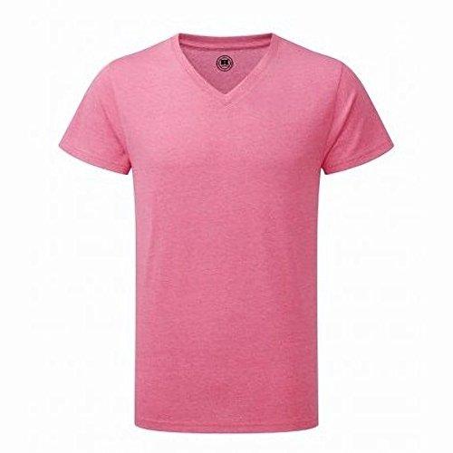 Russell Herren HD T-Shirt mit V-Ausschnitt, kurzärmlig Grün Meliert