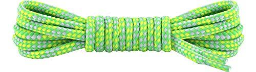 Ladeheid Qualitäts-Schnürsenkel LAKO1002, Rundsenkel für Arbeitsschuhe und Trekkingschuhe aus 100% Polyester, ø ca. 5 mm Breit, 18 Farben, 60-200 cm Länge (Muster-9, 150 cm/ø 5 mm)