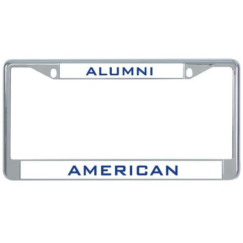 American Metall Nummernschild Rahmen in Chrom Alumni 30,5x 15,2cm