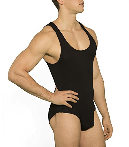 maison-infinity-herren-body-slip-sport-unterhemd-bodysuit-fit-schwarz-52-54-l