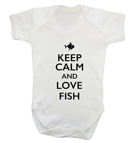 Cold Tank Fish Water (Keep Calm and Love Fisch Baby Weste Body Strampler Gr. XXXL , weiß)