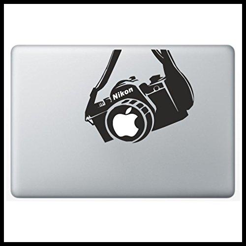 Kamera NIKON Macbook Aufkleber Cam Spiegelreflex Camera Skin Mac für alle Macbooks passend