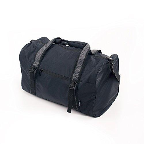 YOGA & SPORTS BAG, schwarz, cool & praktisch, Tasche mit Riemen für Yogamatte, große Yogatasche mit gepolstertem Tragegurt, Sporttasche, Yogamattentasche