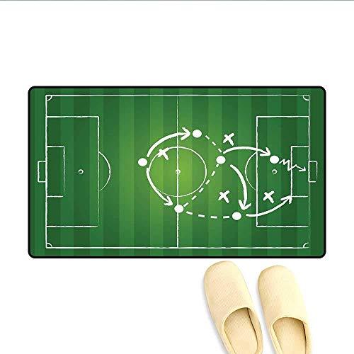 LIS HOME Badteppich-Spielstrategie, die das Markieren des Dribbelns in Richtung zum Ziel-gewinnenden Taktik-Gesamtfußball-Fußmatte außerhalb des grünen Weiß führt