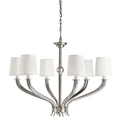 Casa Padrino Luxus Kronleuchter - Luxus Hängeleuchte Antik Silber Durchmesser