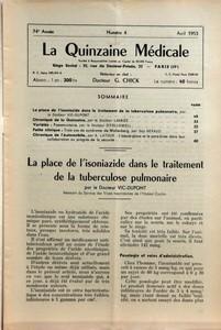 quinzaine-medicale-la-n-4-du-01-04-1953-sommaire-la-place-de-lisoniazide-dans-le-traitement-de-la-tu