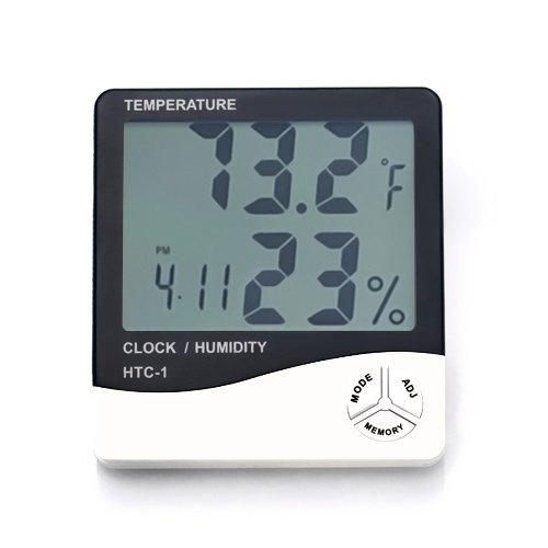 Lyanther Misuratore di umidità per ambienti interni Misuratore di umidità per ambienti interni Termometro digitale Igrometro Stazione meteorologica Sveglia