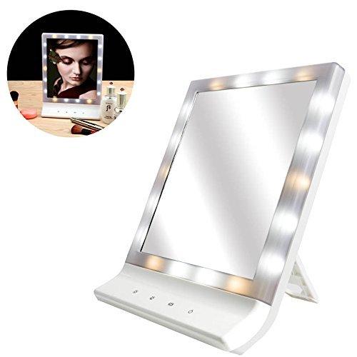 Asosmos LED Make-Up Kosmetik Spiegel Mehrere Illumination Großer Bildschirm Wandhalterung mit 18 LED Hell