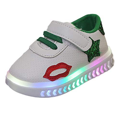 HOMEBABY Baby Girls Boy Light Up Trainers Star Sport Sneaker,Toddler Unisex Kids Casual Luminous Child Walking Winter Warm Shoes Birthday Christmas Gifts