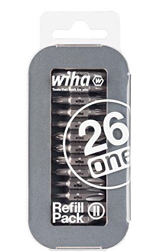 Wiha, Bit-Nachkaufset für Liftup 26one, 13 Doppelbits, Deutschland: Torx, Phillips/Kreuz, Schlitz, Pozidriv (Refill Pack 2)