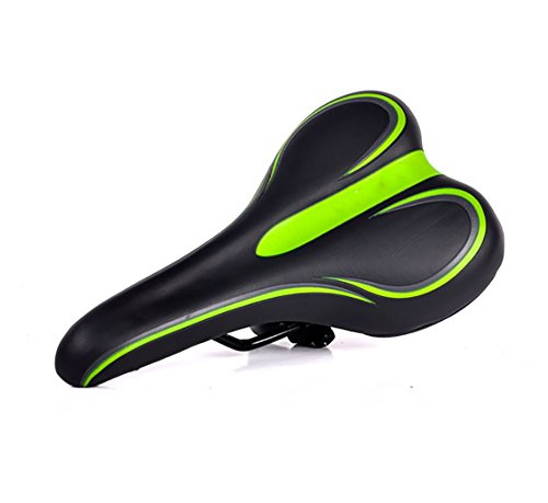 RUIX Sattelbezug Für Den Fahrradsitz Weichen Komfort Mountainbike Sattel Gepolsterten Fahrradsitz Reitausrüstung Straßenrennen Zubehör,Green
