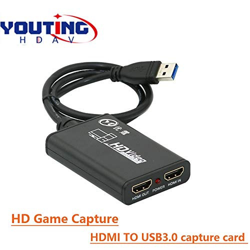 HDMI zu USB3.0 Video Game Capture 1080P60HZ HDMI LOOP OUT  Aufnahmegerät External Drive-Live Streaming Video Capture Karte für Windows Linux OS System PC OBS Switch Xbox