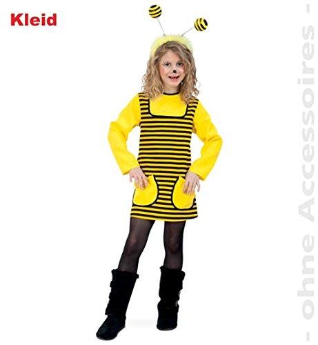narrenwelt Bienchen Biene Kleid Langarm mit Taschen 116 Baby Kleinkind Kinder-Kostüm Fasching