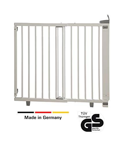 Geuther - Treppenschutzgitter ausziehbar 2734+, für Kinder/Hunde, Türschutzgitter zum bohren,...