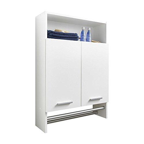 920-002 Motril 2 de colour blanco para colgar de baño de la pared de armario de 2 puertas de unos 60 cm de ancho