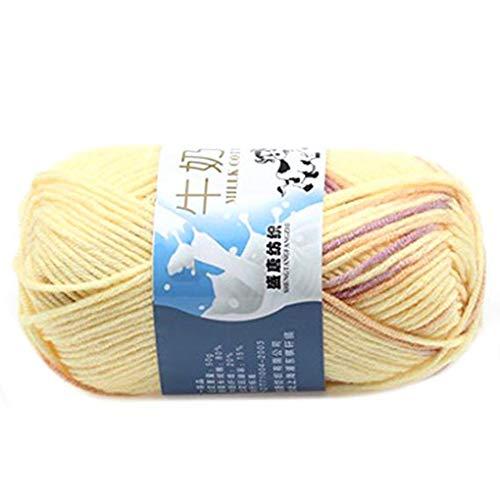Vkospy Caliente DIY algodón Hilado Leche bebé suéter