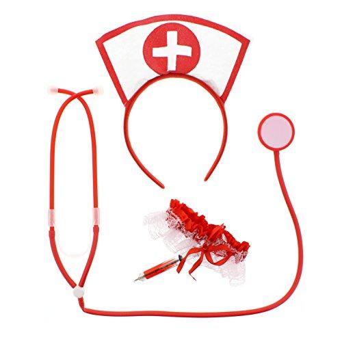 Kostüm Ungezogene Krankenschwester Set (Krankenschwester Kostüm Alte)