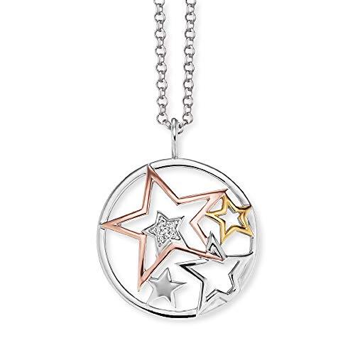 Engelsrufer Damen Kette dreifarbige Sterne 925 Sterlingsilber ERN-STARS-TRICO-ZI