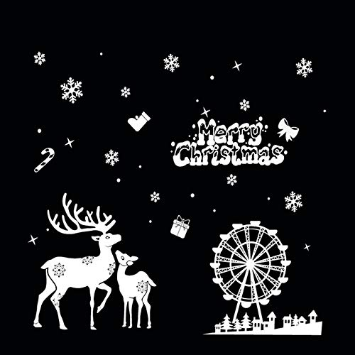 Creative Christmas Static Cling Sticker Paste PVC Decoractive Removable HYC-59 multicolor