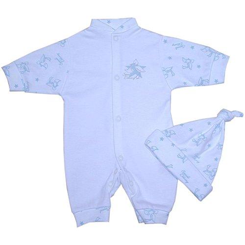 hen Kleidung Strampler Overall & Hut Set Jungen 32 - 50cm BLAU SPEC DEL P1 ()