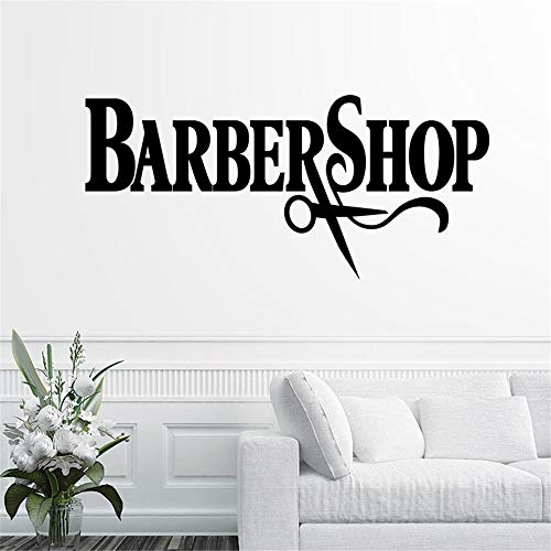 Aufkleber Name Chop Brot Aufkleber Haarschnitt King Crown Poster Vinyl Wandkunst Aufkleber Decor Windows Dekoration Wandbild58 * 126 cm ()