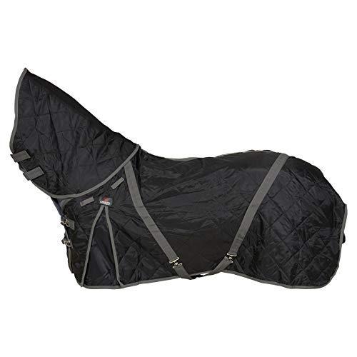 CATAGO Stalldecke mit Halsteil, 100g - schwarz/grau - 145 cm