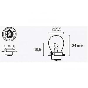 Boite de 10 ampoules s3 6v-15w - Bihr 320082