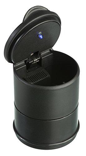 Trixes Aschenbecher mit Deckel und LED-Licht für Getränkehalter