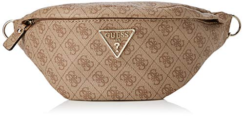Guess Damen Leeza Large Belt Bag Umhängetasche, Grau (Brown), 37x14x13 centimeters