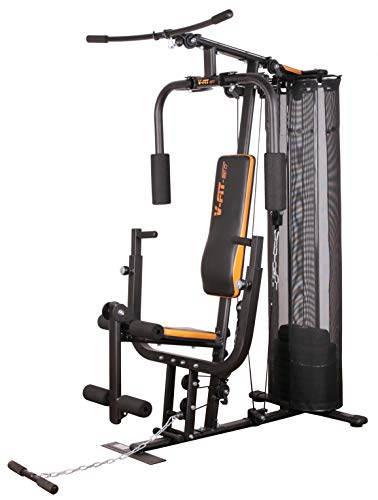 V-fit Unisex's CUG-2 Herculean Compact Upright Home Gym, Grey/Black/Orange, 72 kg