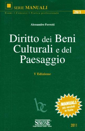 Diritto dei beni culturali e del paesaggio
