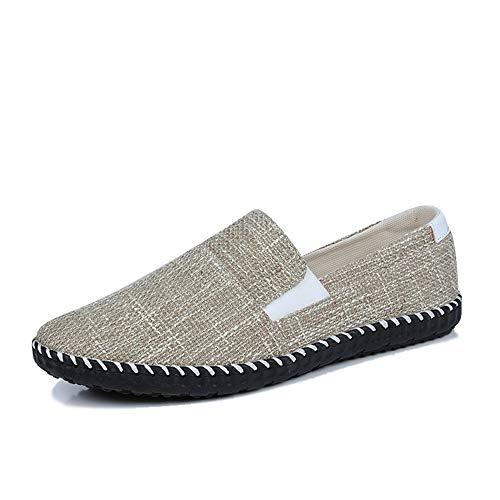 Zzyff Trend 2019 2019 Neue Männer Lässig Leinwand Sätze Von Füßen Atmungsaktiv Rutschfeste Flache Faule Einzelne Schuhe Passenden Farbe Wilde Boot Schuhe Täglich (Color : Gray, Size : 42 EU)