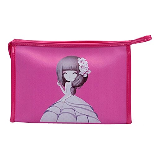 Grande capacit?de lavage de sac ?main Maquillage Sacs Cosmetic Bag, Rose rouge
