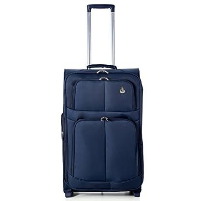 41%2BxTwiQfdL. SS416  - Maleta de Aerolite la más ligera del mundo, maleta de equipaje con ruedas y bolsillos; de 66 cm/68litros (2ruedas).